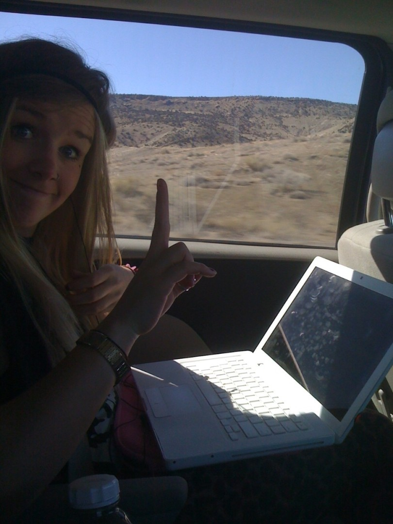 Soph editing on the road!