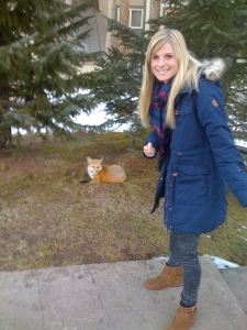 me and our pet fox!!!