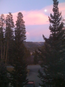 View from our window in Breck