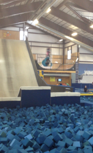 Upside down at woodward:)