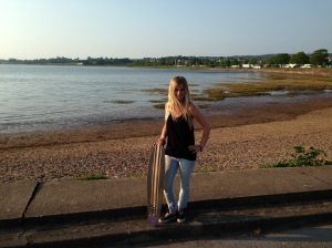 Longboarding on dry land:)