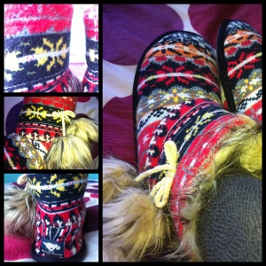 "Snowflake Slippers ""Northen Winds"""
