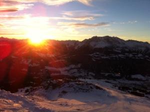 Sunrise in Laax