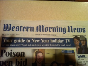 Weston Morning News 28/12/13