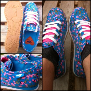 Andrea Shoe: Happy Flower Blue
