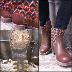 Tahira Boot: Stampede/Drum Circle Brown