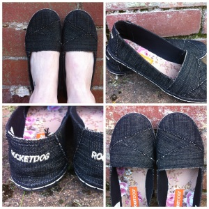 Willow Shoe: Washed Canvas Black