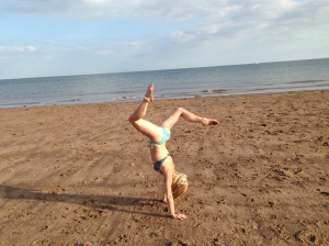 Handstand Exmouth Beach
