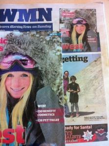 Western Morning News on Sunday 2nd Nov. 2014